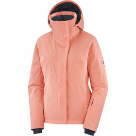 Salomon Speed Chaqueta Mujer, burnt coral/ebony